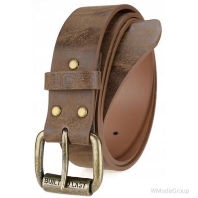 Элегантный оригинальный кожаный ремень JCB