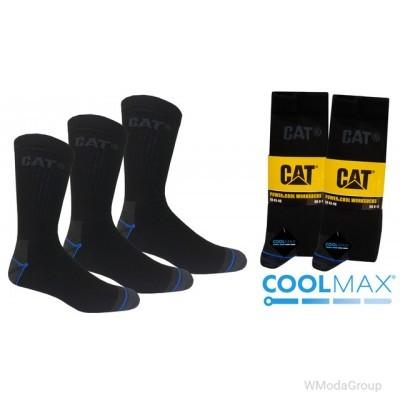Носки премиум класса CATERPILLAR, CAT power&cool worksocks COOLMAX упаковка 3 пары