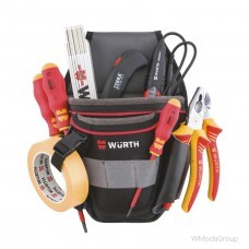 Поясничная сумка электрика без металлических деталей WURTH