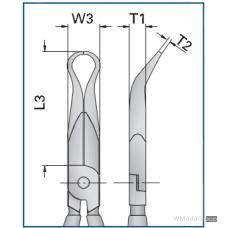 GEDORE 8138-200 JC плоскогубцы для монтажных работ без режущих кромок, угол загиба 30° GE-6723350