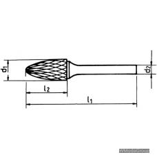 Борфреза WURTH MX RBF (F) Параболическая