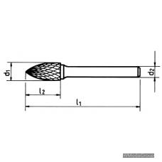 Борфреза WURTH MX SPG (G) Гиперболическая