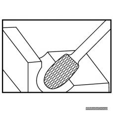 Борфреза WURTH MX TRE (E) Овальная