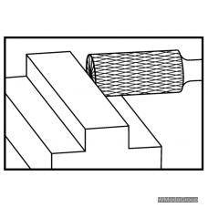 Борфреза WURTH MX ZYAS (A) Цилиндрическая с насечкой на торце