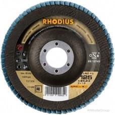 Диск лепестковый торцевой RHODIUS LSZ F3 для нержавеющей стали, Made in Germany