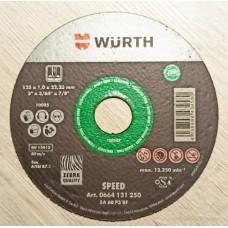 Диск отрезной WURTH SPEED Plus для нержавеющей стали, зеленый, made in Germany