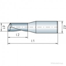 Твердосплавная VHM-MINI фреза MAYKESTAG одиночный зуб ALU Ø 1,5 30 °, ФИРМЕННЫЙ СТАНДАРТ, ТИП W, «RR»