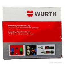 Набор головок WURTH для легкосплавных дисков, с магнитом Удлиненная форма с цветовой маркировкой размеров