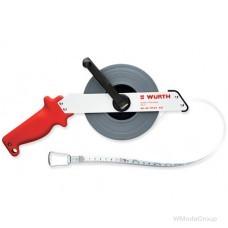 Рулетка стальная с рамкой из легкого анодированного металла Wurth