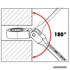 Ключ комбинированный с трещоткой и шарниром Метрический WURTH 19 мм