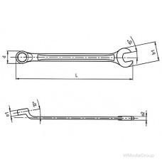 Ключ WURTH комбинированный, удлиненный Метрический, со смещением накидной части