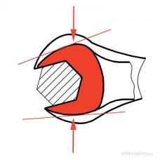 Ключ WURTH комбинированный узкий метрический