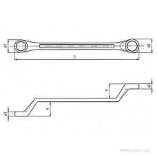Ключ WURTH накидной двойной Метрический, S-образный