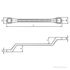 Ключ WURTH накидной двойной с трещоткой Метрический