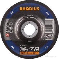 Круг зачистной шлифовальный по металлу Rhodius ALPHA KSM Made in Germany
