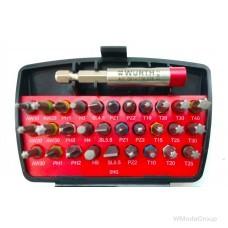 """Набор бит WURTH с держателем, 31 предмет 1/4"""", с магнитным и шариковым фиксаторами"""