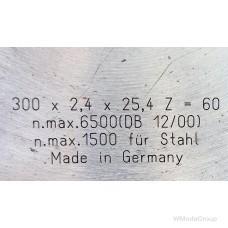 Пильный диск Wurth для стали 300 х 2,4 х 25,4 Z=60