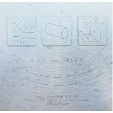 Высококачественный пильный диск WURTH для резки черных и цветных металлов 320 х 2,2 / 1,8 х 25,4 мм 72 зуба 0610932072