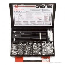 Заклепочник WURTH для резьбовых заклепок. Набор заклепок-гаек с инструментом, ORSY 100