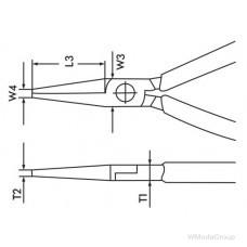 Острогубцы слесарные прямые, WURTH ZEBRA 160 DIN ISO 5745