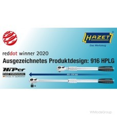 """Высокотехнологичная трещотка HAZET 916HPLG, 1/2"""" 90 мелких зубов 1000 Нм выдвижная способность 414 - 614 мм"""