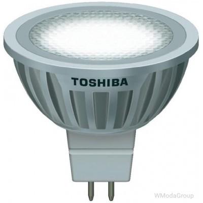 Светодиодная энергосберегающая лампа Toshiba E-core Gu5.3 6,7 Вт 12 Вольт Mr16 Led 2700k, луч 35 градусов, теплый белый [энергетический класс A]