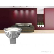 Светодиодная энергосберегающая лампа Toshiba E-core Gu5.3 6,7 Вт 12 Вольт Mr16 Led 2700k, луч 25 градусов, теплый белый [энергетический класс A]