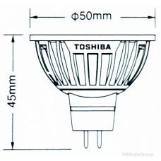 Энергосберегающая светодиодная лампа Toshiba E-CORE MR16 (GU5.3) мощностью 4 Вт 12 Вольт [Класс энергопотребления A +]