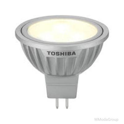 Светодиодная энергосберегающая лампа TOSHIBA LED-SPOT MR16 GU5.3, 5.2W, 12 Вольт, 4000K, 35 градусов, энергетический класс А