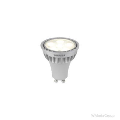 Светодиодная энергосберегающая лампа Toshiba E-core Gu10, 5.4 Вт, 220 Вольт, 4000k, луч 25 градусов, натуральный белый [Энергетический класс A+]