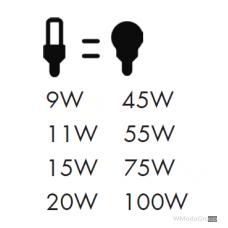 Энергосберегающая лампа WURTH E27, 220 Вольт 20W, 4200 K