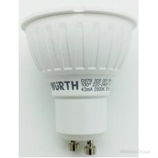 Светодиодная лампа WURTH 220 Вольт, 5W / PAR 16 / GU10 / 2800K