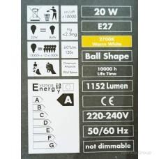 Энергосберегающая лампа WURTH E27, 220 Вольт 20W, 2700 K