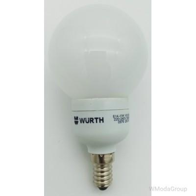 Энергосберегающая лампа WURTH E14, 220 Вольт 11W, 2700 K