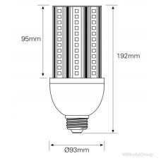 Светодиодная лампа WURTH E40 220 Вольт 36W 6000K
