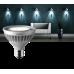 Светодиодная энергосберегающая лампа Toshiba E-Core, PAR30, 16 Вт, 220 Вольт, 2700K, E27, 740 люмен, 3400 кд, 23 °, регулируемая яркость), теплый белый цвет[класс энергоэффективности A ]