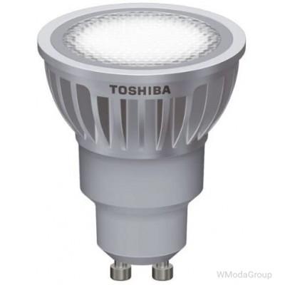 Светодиодная энергосберегающая лампа Toshiba E-core Gu10, 6,5 Вт, 220 Вольт, 2700k, луч 25 градусов, домашний белый [Энергетический класс A]
