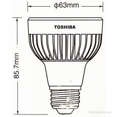 Светодиодная энергосберегающая лампа Toshiba LED 9W 240V R63 PAR20 Холодный белый рефлекторный точечный светильник, луч 40 градусов