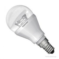 Светодиодная энергосберегающая лампа Toshiba LMP LED E14 Toshiba golfb.clear 6 Вт, 220 Вольт, теплый белый 2700k, 250лм