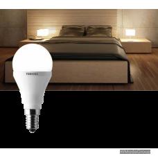 Светодиодная энергосберегающая лампа Toshiba LED E14 golfb.frost 6 Вт 220 Вольт дим. теплый белый 2700k, 250лм
