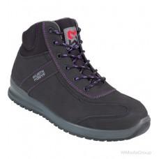 Кроссовки WURTH / MODYF S3 SRC CARINA черные с фиолетовым