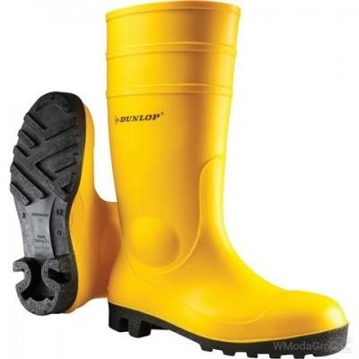 Резиновые желтые сапоги Dunlop 142YP S5 SRA