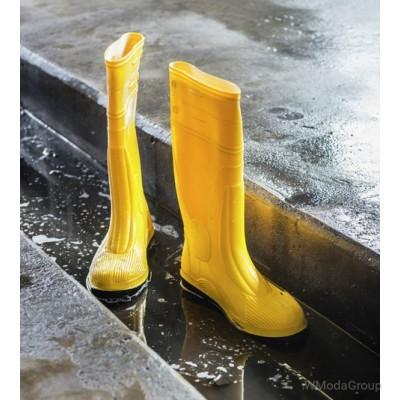 Резиновые желтые сапоги Dunlop S5 SRC