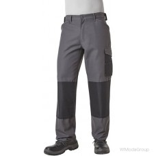 Брюки Pionier® Workwear Canvas Blackline черно-серого цвета