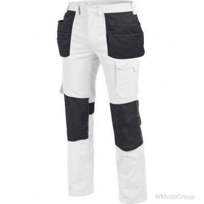Брюки WURTH / MODYF SETUS с навесными карманами белый/антрацитовый