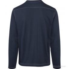 Футболка WURTH / MODYF с длинными рукавами с контрастными швами темно-синего цвета