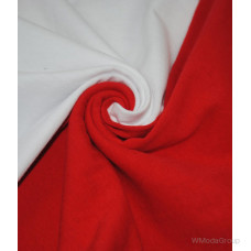 Мужская двухцветная футболка с длинными рукавами белый-красный