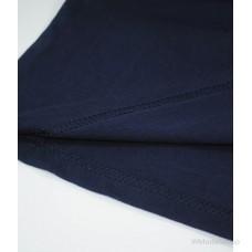Мужская футболка с длинным рукавом темно-синяя