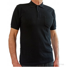 Черная рубашка-поло WURTH с накладным карманом