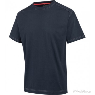 Футболка WURTH / MODYF темно-синяя с контрастными швами